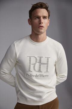 Pedro del Hierro Crew neck sweatshirt Ecru