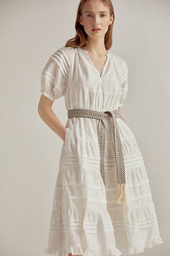 Pedro del Hierro Belted midi dress Beige