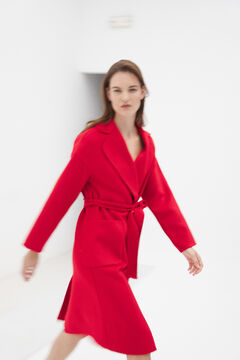 Pedro del Hierro Double-faced long coat Red