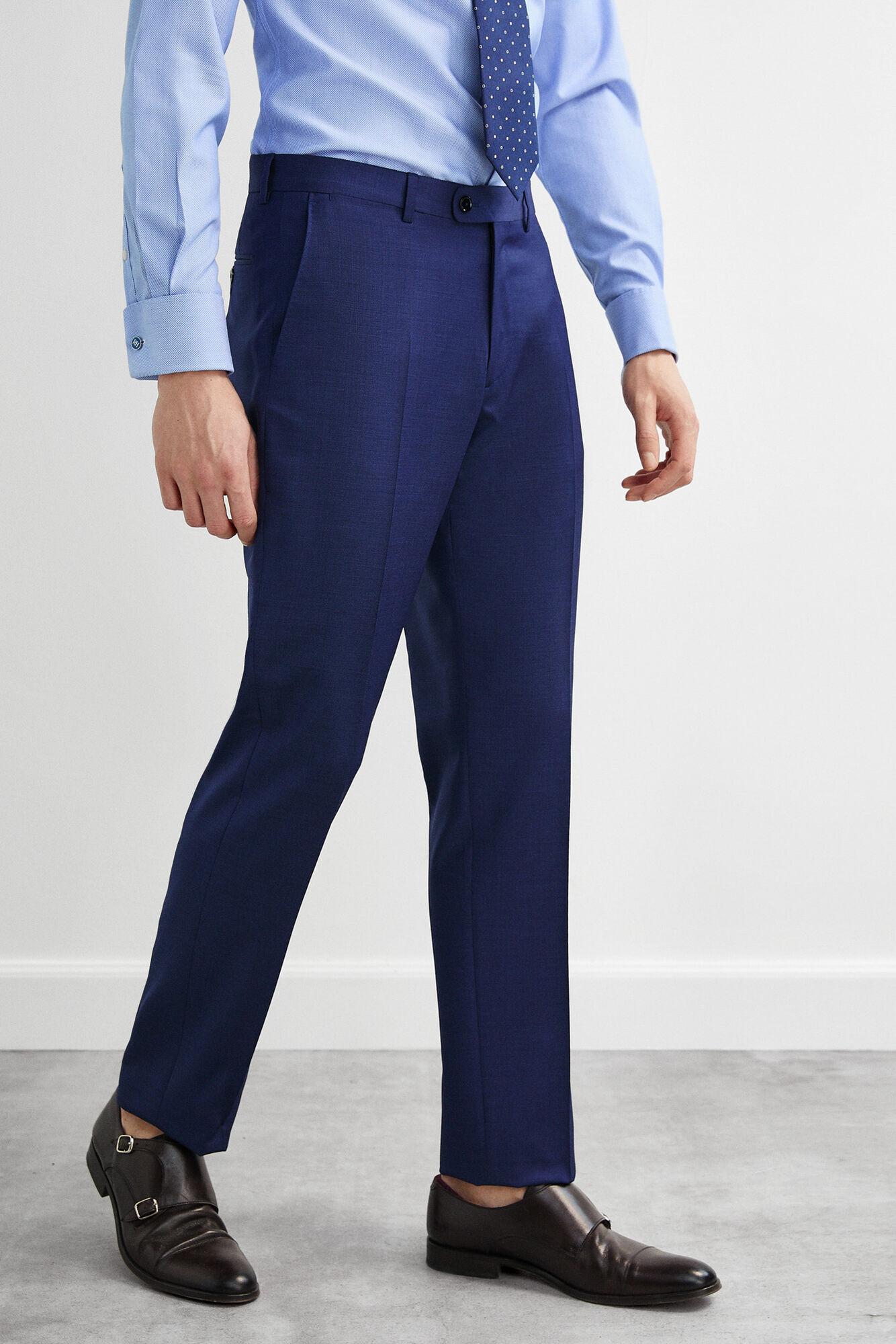 8a198bcad2 Pantalón traje azul tailored fit