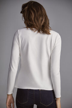 Pedro del Hierro Long-sleeved basic t-shirt White