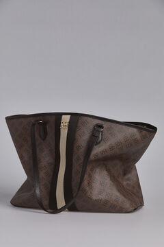 Pedro del Hierro Classic logo shopper bag Brown