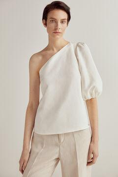 Pedro del Hierro Asymmetric blouse Ecru