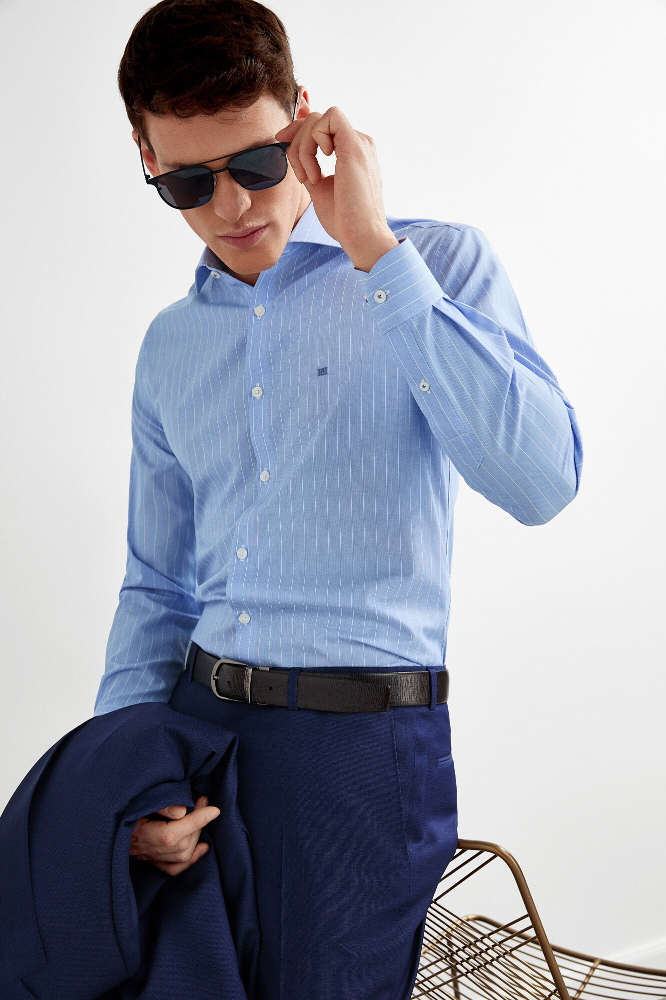 32ae64b8c1ee Non-iron striped tailored dress shirt   Shirts   Pedro del Hierro ...