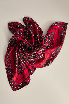 Pedro del Hierro Animal print shawl Red