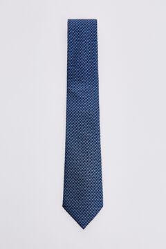 Pedro del Hierro Micro motif tie Blue