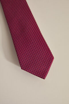 Pedro del Hierro Textured weave tie Red