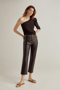 Pedro del Hierro Set of top, rubberized pants and leather sandal