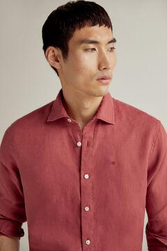 Pedro del Hierro 100% linen plain shirt Red