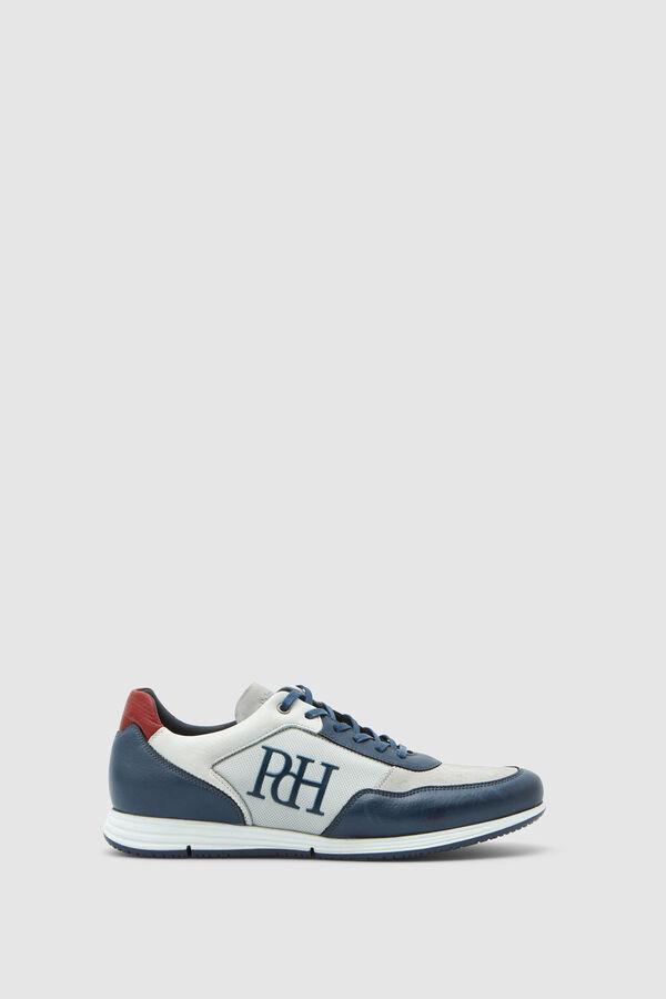 f94f712ab1c Pedro del Hierro Sneaker icono piel y nylon Blanco