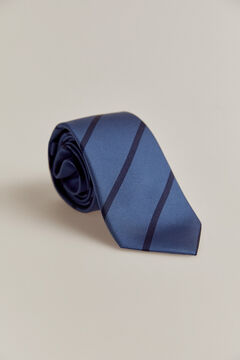 Pedro del Hierro Striped tie Blue