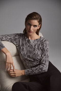 Pedro del Hierro Zebra print jumper Black
