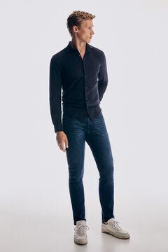 Pedro del Hierro Slim fit dark wash Premium Summer Flex jeans Blue