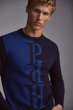 Pedro del Hierro Jersey cuello caja Blue
