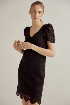 Pedro del Hierro Short crochet dress Black