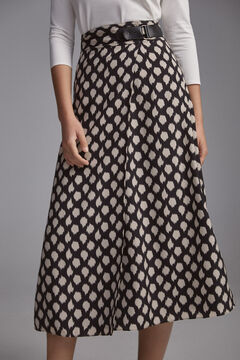 Pedro del Hierro Printed pareo skirt Grey