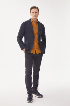 Pedro del Hierro Regular fit textured chinos Blue