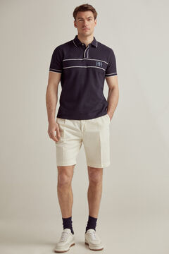 Pedro del Hierro Linen Bermuda shorts with elasticated waistband Beige