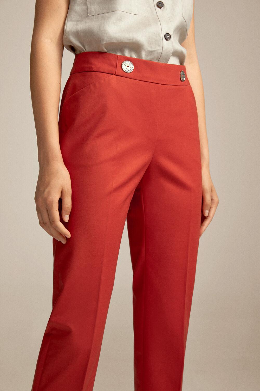 d1dd0840 Pedro del Hierro Cotton trousers Red