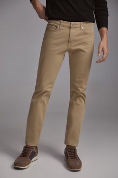 Pedro del Hierro Coloured slim fit 5-pocket premium flex jeans  Beige