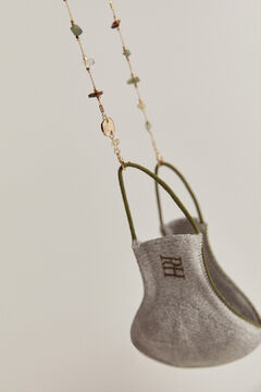 Pedro del Hierro Mask hanger with stones details Yellow