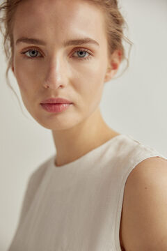 Pedro del Hierro A-line dress with stitching White