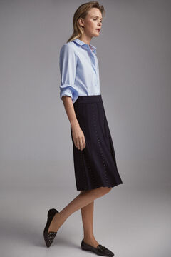 Pedro del Hierro Stretch jersey-knit skirt  Blue