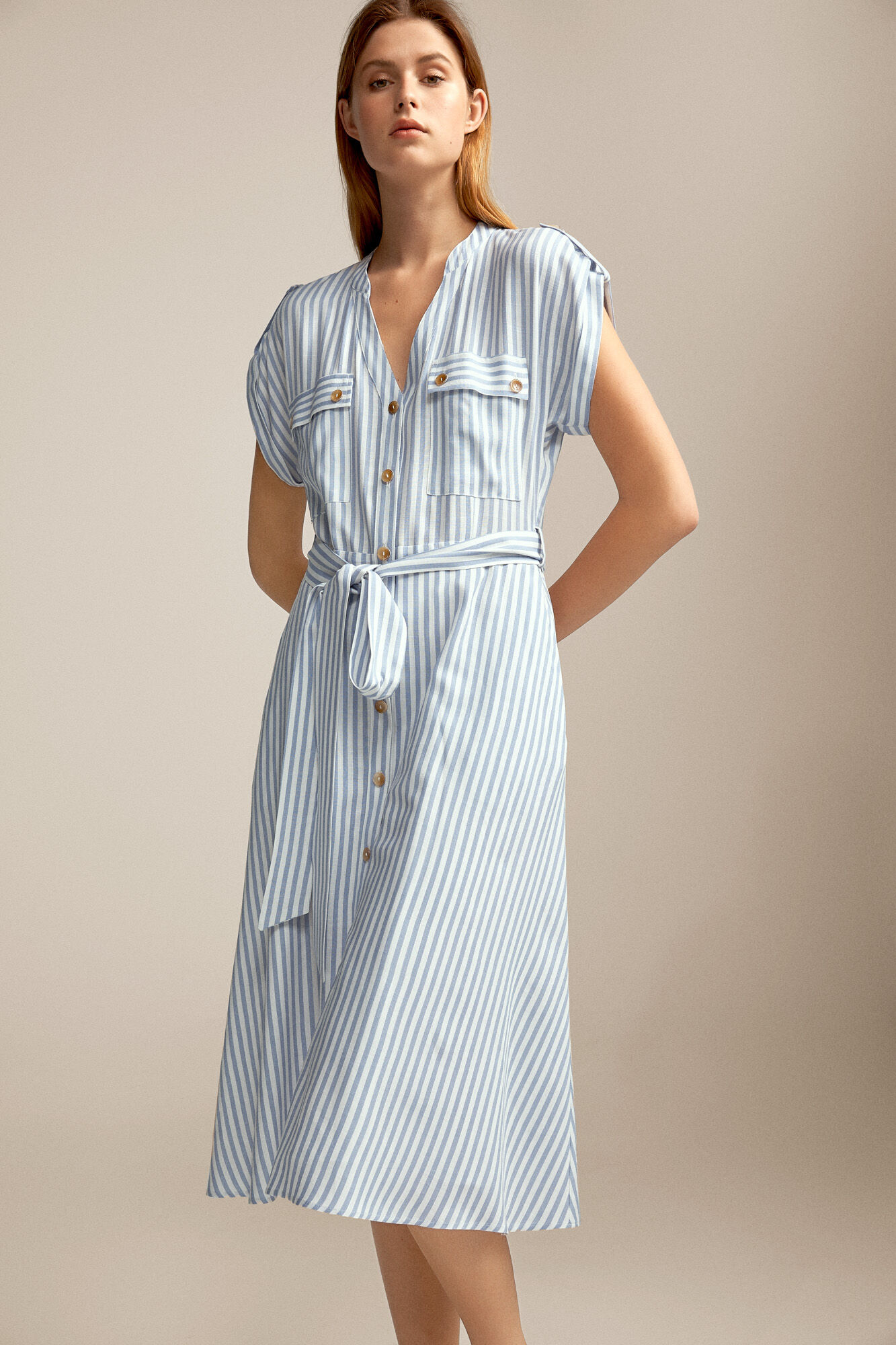 f63f5342c Striped linen dress | Dresses | Pedro del Hierro Man & Woman