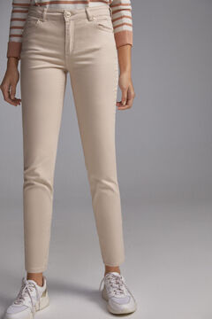 Pedro del Hierro Coloured satin push-up trousers Ecru