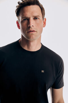 Pedro del Hierro Basic short sleeve t-shirt Black