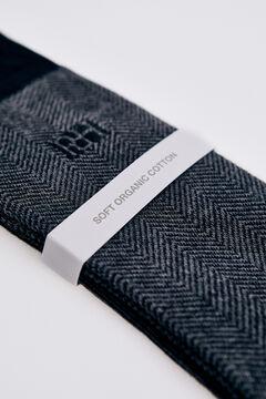 Pedro del Hierro Herringbone logo socks Grey
