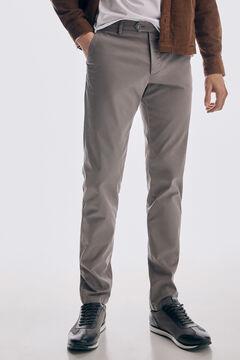 Pedro del Hierro Pantalón chino Premium Flex Slim Gris