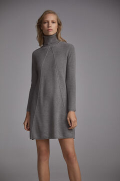 Pedro del Hierro A-line jersey-knit dress Grey