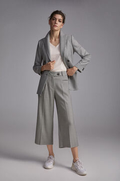 Pedro del Hierro Houndstooth culotte trousers Ivory