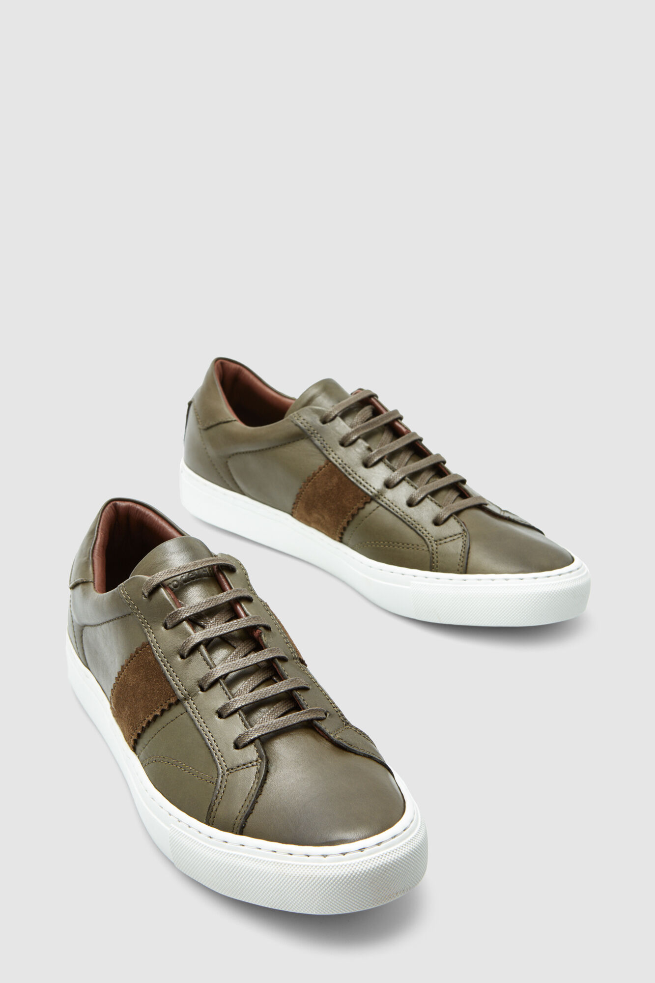 fe2ee79ab577 Pedro del Hierro Plain leather sneakers Green