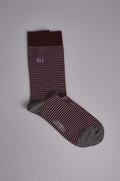 Pedro del Hierro Striped socks Red