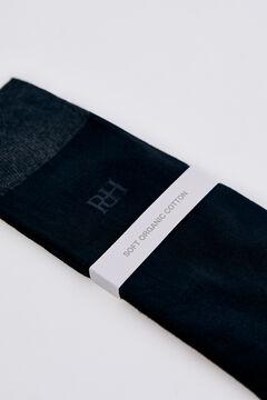Pedro del Hierro Plain logo socks Black