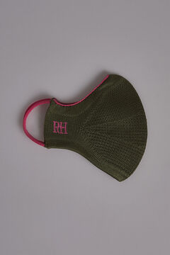 Pedro del Hierro Plain jersey-knit face mask Grey
