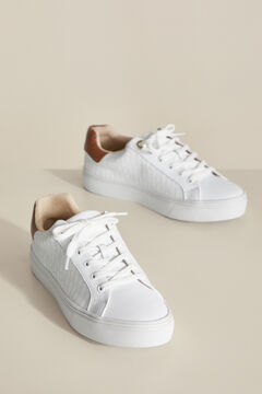 Pedro del Hierro Leather PdH logo sneaker White