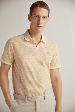 Pedro del Hierro Short-sleeved PdH logo polo shirt Yellow