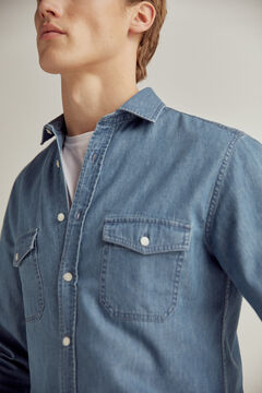 Pedro del Hierro Denim shirt 2 pockets Blue