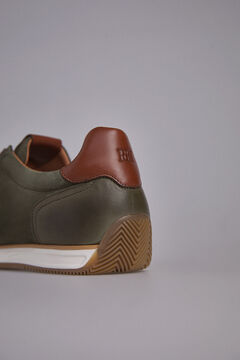 Pedro del Hierro Sneaker slip with rubber floor Green
