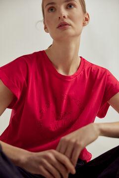 Pedro del Hierro Crystal logo T-shirt Red