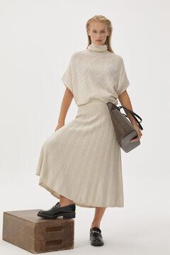 Pedro del Hierro Jersey-knit midi skirt Ecru
