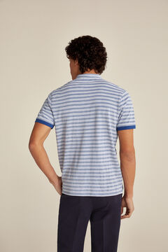 Pedro del Hierro Short-sleeved polo shirt Blue