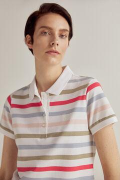 Pedro del Hierro Short-sleeved stripy polo shirt Several