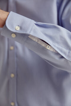 Pedro del Hierro Textured TX Protect shirt Blue