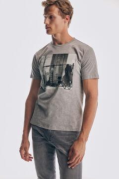 Pedro del Hierro Photo T-shirt Grey