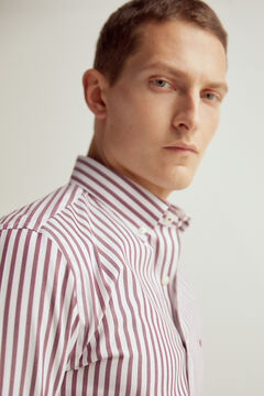 Pedro del Hierro Camisa rayas tech non iron antimanchas Red