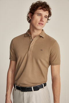 Pedro del Hierro Essential short-sleeved polo shirt Beige